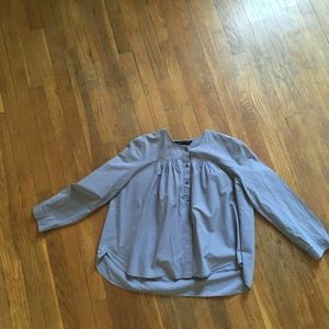 Zara Blue/Grey button down Blouse